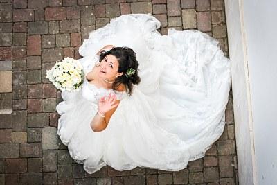 Fotografo di Matrimonio Sposa Caserta dall'alto